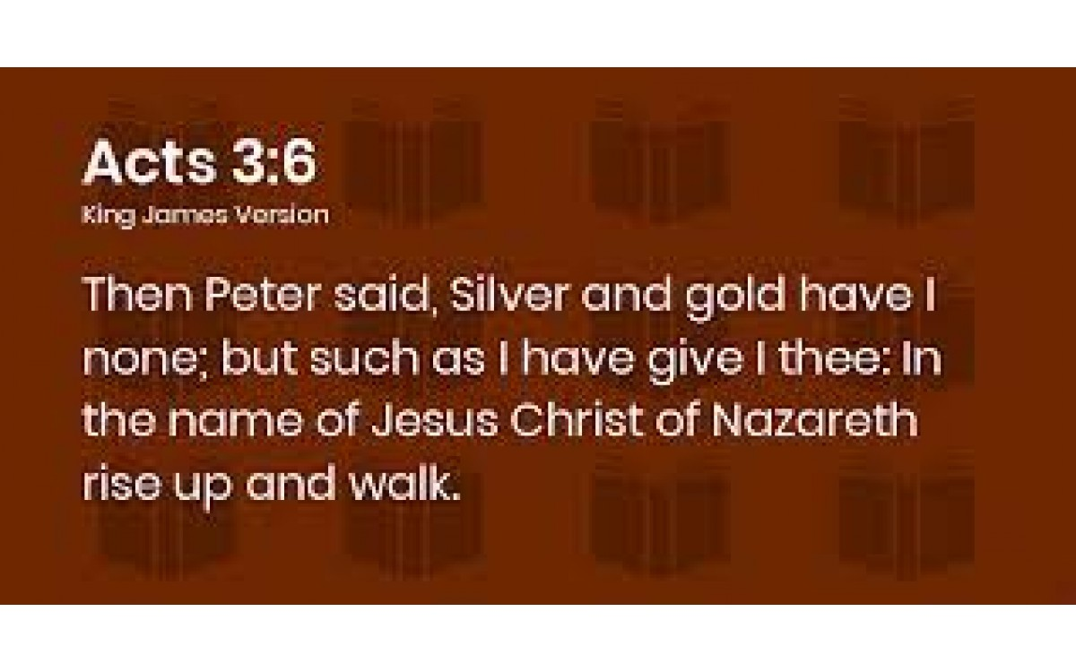 """""""Silver and Gold have I none"""" Acts 9:6."""