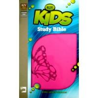 Kids Study Bible (Fluttering Fuchsia)