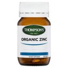 Thompson's Organic Zinc 80 Tablets